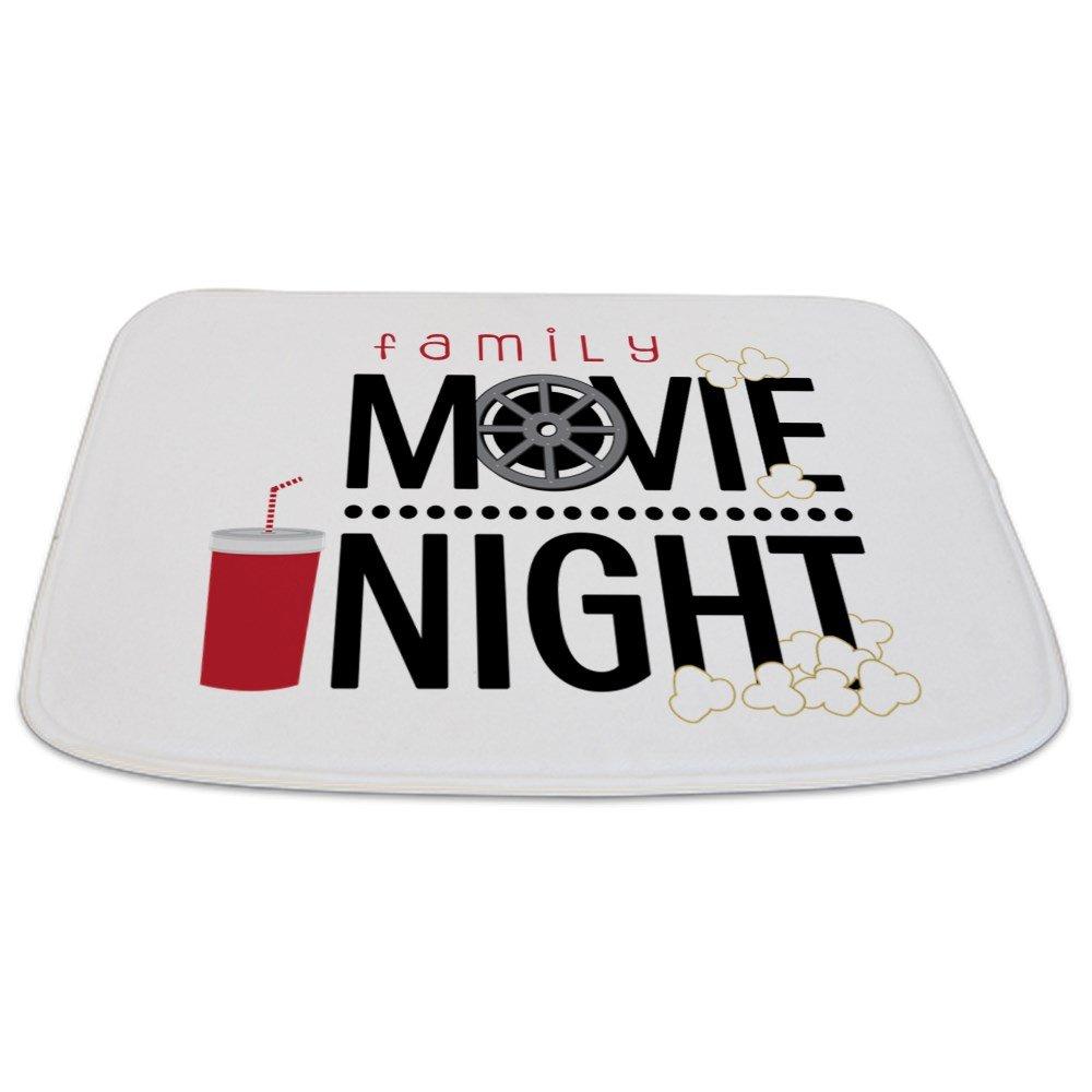CafePress - Family Movie Night - Decorative Bathmat, Memory Foam Bath Rug