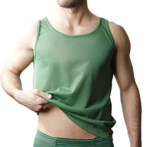 (Players Mens Tricot Nylon Athletic Tank Shirt)