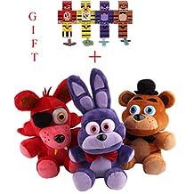 3pcs/set Five Nights At Freddy's 4 FNAF Bonnie Foxy Freddy Fazbear Bear Plush Toys Doll +GIFT FREE(4pcs/set FNAF Action Figures)