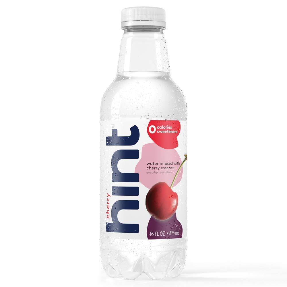 HintWater Cherry, (Pack of 12) 16 oz Bottles, Pure Water Infused with Cherry, Zero Sugar, Zero Calorie, Zero Sweeteners, Zero Preservatives, Zero Artificial Flavors