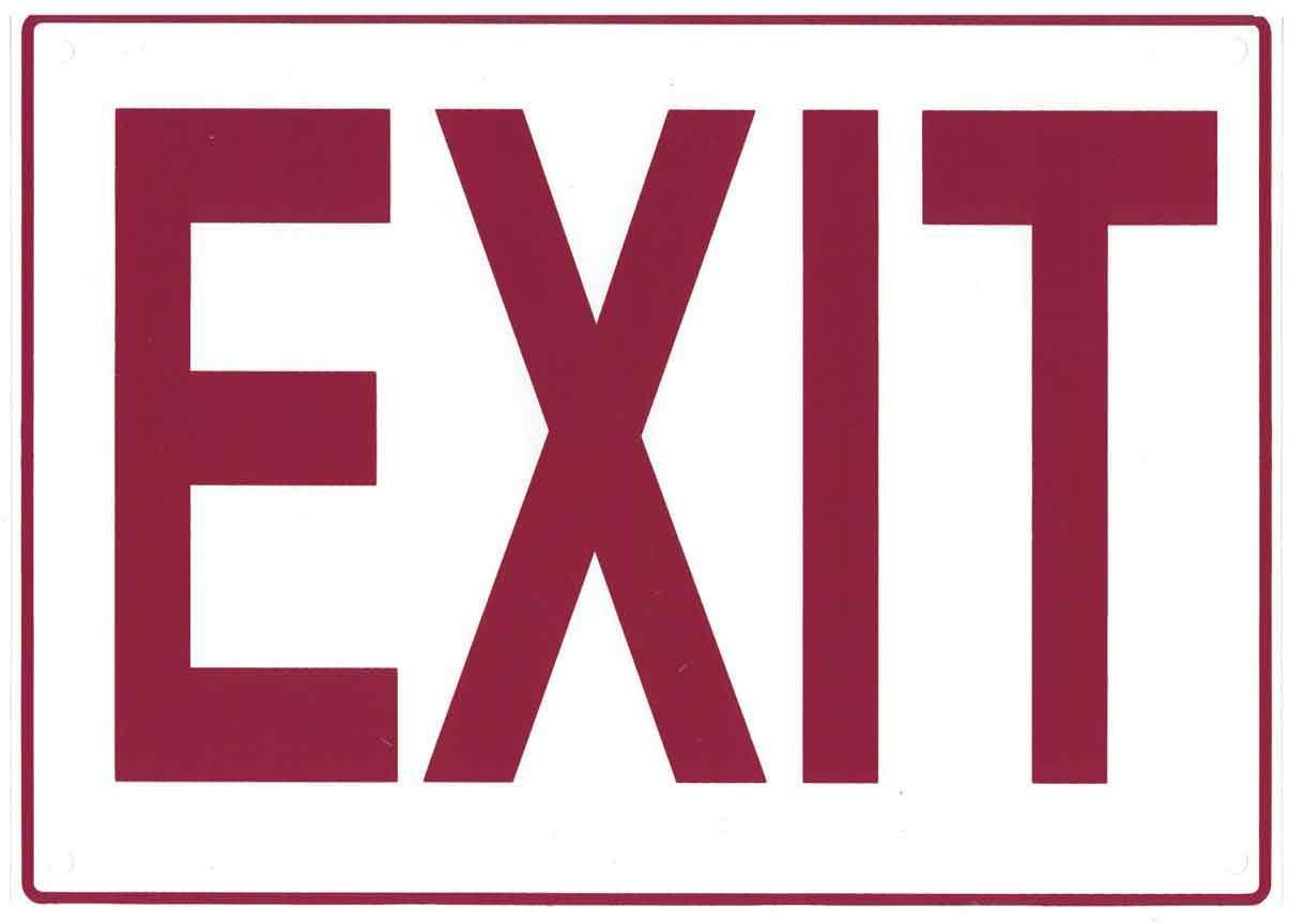 SAS Safety 9954 14 by 10-Inch Sign: Exit, 10-Pack