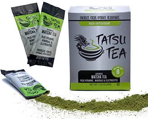 Organic Matcha Tea Electrolyte Sports Drink - Hydration Powder, Hangover Cure, Energy Drink, No Jet Lag, Focus Aid and Workout Performance (Best Tea For Hangover)