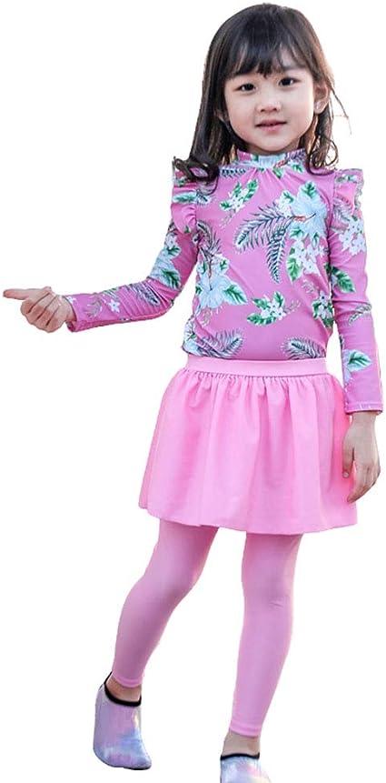 UV SKINZ GIRLS SWIM SKIRT RASH TOP HAT SET AGE 2 3 4 5 6 7 SUNWEAR UPF 50