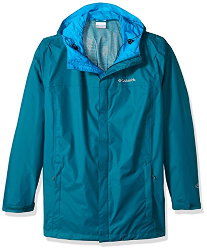 Columbia Men's Big and Watertight Ii Packable Rain Jacket, Phoenix Blue, Large Tall ()