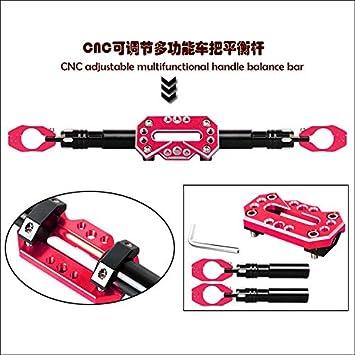 Black CNC Motorcycle Bike Handlebar Cross Bar Adjustable Steering Wheel Strength