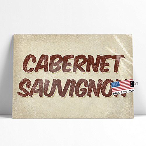 NEONBLOND Large Poster Cabernet Sauvignon Wine, Vintage style Printed in Atlanta (Cabernet Sauvignon Stock)