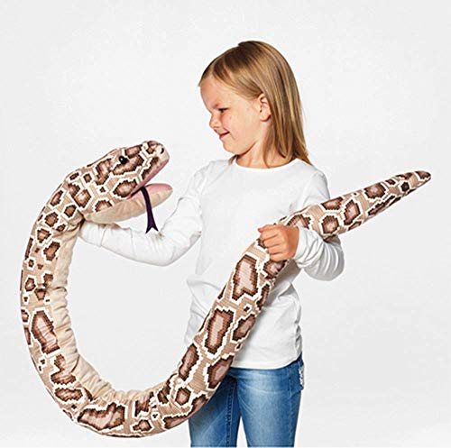 DJUNGELSKOG Glove Puppet Snake-Fits Big as Well as Small Hands,Wild Burmese Python Stuffed Animal Plush Toy Reptile 67 inches Pre-Kindergarten Toys Brown