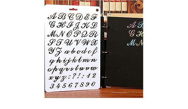 Amazon com: Letter Stencils New Alphabet Letter Stencil Thin