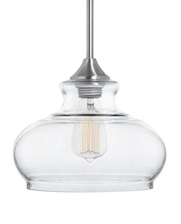 Ariella ovale clear glass one light stem hung pendant lamp brushed ariella ovale clear glass one light stem hung pendant lamp brushed nickel linea aloadofball Gallery