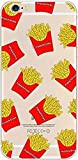 french fry phone case - iPhone 8 Plus / 7 Plus, Colorful Rubber Flexible Silicone Case Bumper for Apple Clear Cover - French Fries Overload