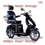 E-Wheels - EW-36 Full-Sized Scooter - 3-Wheel - Black - PHILLIPS POWER PACKAGE TM - TO $500 VALUE