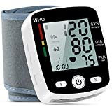 Blood Pressure Monitor, FDA Approved Automatic Digital BP Monitor Irregular Heart Beat Detection with Large Display Screen& Voice Prompt Support Charging Supply for Home Travel Use (5.3'-8.5')