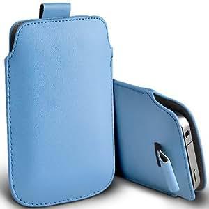 Tailor My Mobile - Nokia Lumia 638 Prima Soft PU Tire Tab Flip Case cubierta de bolsa - Azul claro