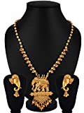 YouBella Fashion Jewellery Gold Plated Bahubali Traditional Necklace Jewellery Set with Earrings For Women