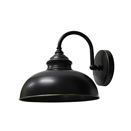 Delightful Y Decor EL2935LIB 1 Light Outdoor Wall Mounted, Imperial Black