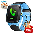 GBD GPS Tracker Kids Smart Watch for Children Girls Boys Christmas Gifts with Camera SIM Calls Anti-lost SOS Smartwatch Bracelet for iPhone Android Smartphone (Blue)