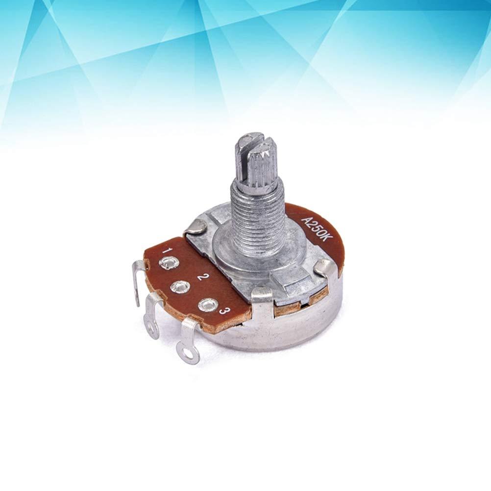 SUPVOX A250k Basso elettrico Chitarra Volume e Tone Potenziometro tono potenziometro lungo albero zigrinato zigrinato