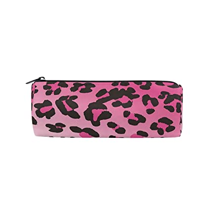 Pencil Case Cool Animal Leopard Print Pen Case Pencil Holder With Zipper  Large Capacity Orgnizer Students