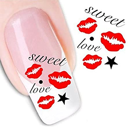 Fashion gallery 10Pcs Beauty Accessories Nail Art Water Transfer Decal Sticker Decorations Tips Design Multi Flower