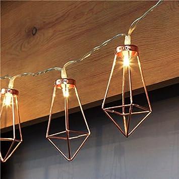 Amazoncom Fashionclubs MLeds Led String Lights Rose Gold - Rope lights in bedroom
