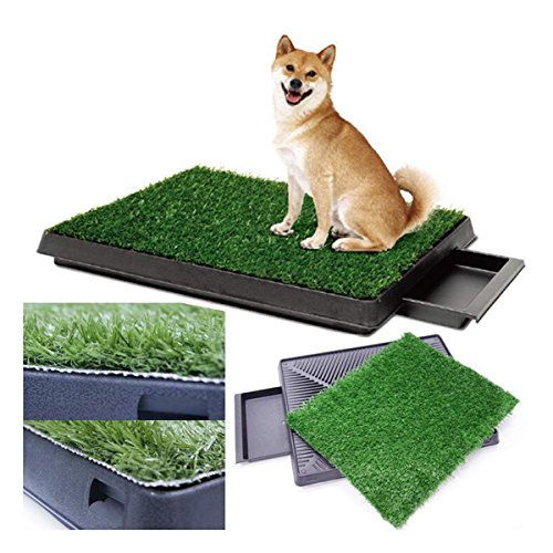Dog Potty Training Pee Turf Grass Pad Indoor Pet Patch 25x20x2.5″ Mat Trainer