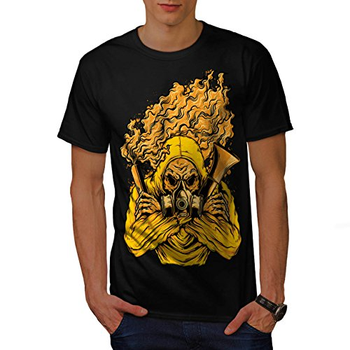 Insane Asylum Mask (Wellcoda Gass Poison Mask Horror Men M T-shirt)