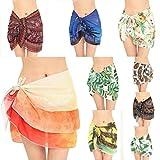 #1: BCDshop Women Floral Shawl Wrap Beach Bikini Swimwear Coverup Skirt Beachwear