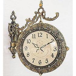 Rococo Retro Antique Clock 12 Inch Wall Clocks European-style Decorative