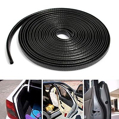 OTOLIMAN Black Sticky 5m 16feet Car Door Edge Scratch Guard Trim Molding Protector Cover U Shape Air Vent Edge Decoration: Automotive