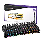Prismacolor 3721 Premier Double-Ended Art Markers, Fine and Chisel Tip, 24-Count