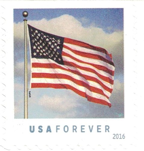US Flag USPS Forever Stamps Book of 20 - 2016 New (First Class Stamps)