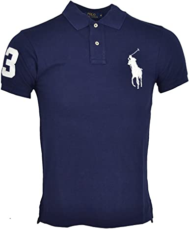 Polo Ralph Lauren hombre | azul marino | slim fit | 100% algodón ...