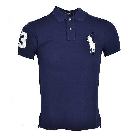 Polo Ralph Lauren, big pony, noir, custom fit, taille S