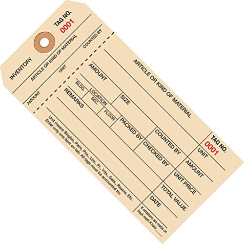 1000 to 1999 Numbered Inventory Tag 1 Part Stub Styleÿ (G18021) Category: Inventory (1999 Inventory Tags)