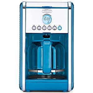 Bella Coffee Maker Auto Shut Off : Amazon.com: Bella Linea Collection 12-Cup Coffee Maker - Blue: Kitchen & Dining