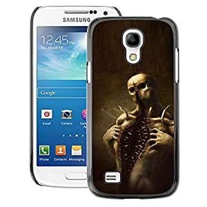 A-type Arte & diseño plástico duro Fundas Cover Cubre Hard Case Cover para Samsung Galaxy S4 Mini i9190 (NOT S4) (Skull Monster Scary Halloween)