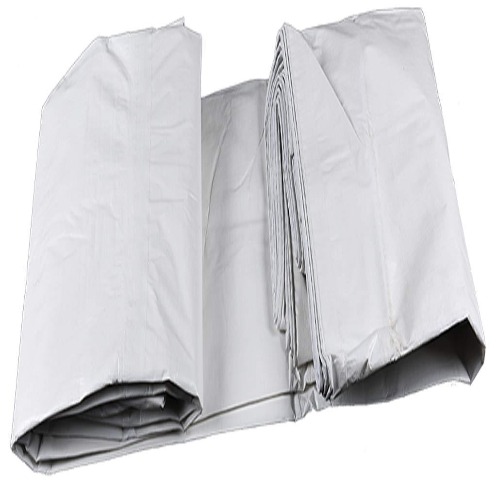 6x8m Double bÂche de pluie blanche, panneau de plancher pour auvent hamac auvent Empreintes de pas couverture contre la pluie au sol couverture parasol couverture écran solaire prougeection portative impermé