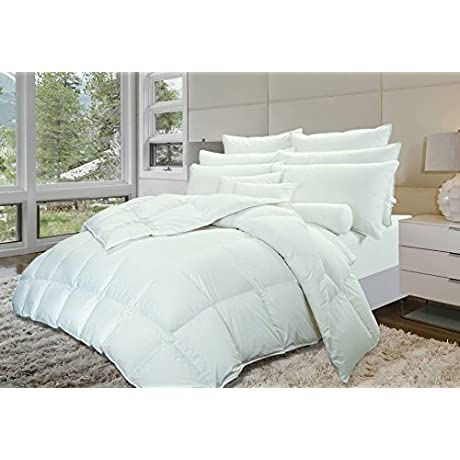 Highland Feather 50 Oz Cancun Tencel And Organic Goose Down Duvet Super King White