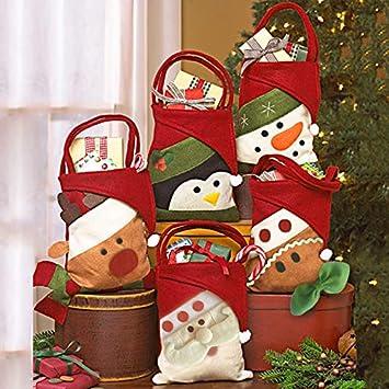 Amazon Com Christmas Gift Bags Candy Bag Santa Claus