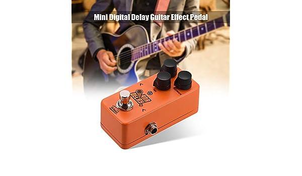 Fesjoy Guitarra Eléctrica ANA DELAY Mini Digital Delay Pedal de ...