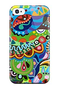 Anti-scratch And Shatterproof Funky Psychedelic Phone Case For Iphone 4/4s/ High Quality Tpu Case
