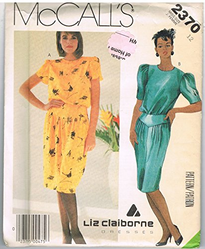 McCall's 2370 Liz Claiborne Dress Sewing Pattern