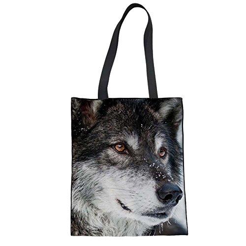 Advocator 3D Print Tragetaschen Canvas Handtasche Lässig Strandtasche Durable Eco Wiederverwendbare Tote Shopper Tasche für Frauen Color-3