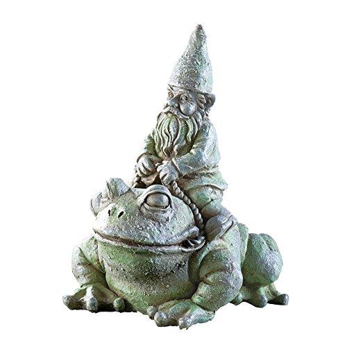 Frog Riding Garden Gnome