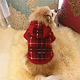 Pet Dog Classic Hooded Sweater Warm Winter Puppy Pet Coat Soft Sweater Clothing Small Dogs