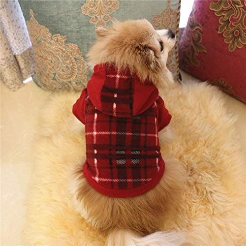 Price comparison product image Dog Pet Clothes Hoodie Warm Fleece Puppy Coat Apparel - Pet Sweater with Hood,  Decorative-Cake-Toppers Outdoor Blue Silver Table Gold Set Lights Indoors Christmas Lighted Whit