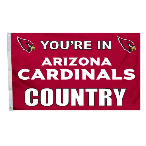 NFL Arizona Cardinals in Country Flag with Grommets, 3 x 5-Foot