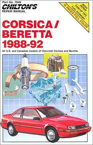 chevy corsica and beretta 1988 92 chilton s repair manual rh amazon com Truck Manual 1996 chevy corsica repair manual free download
