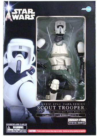 Pre Painted Vinyl Model - Star Wars Scout Trooper Pre-Painted Soft Vinyl Model Kit 1/7 Scale