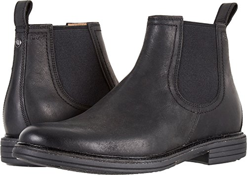 14 Black Leather Boots - 7